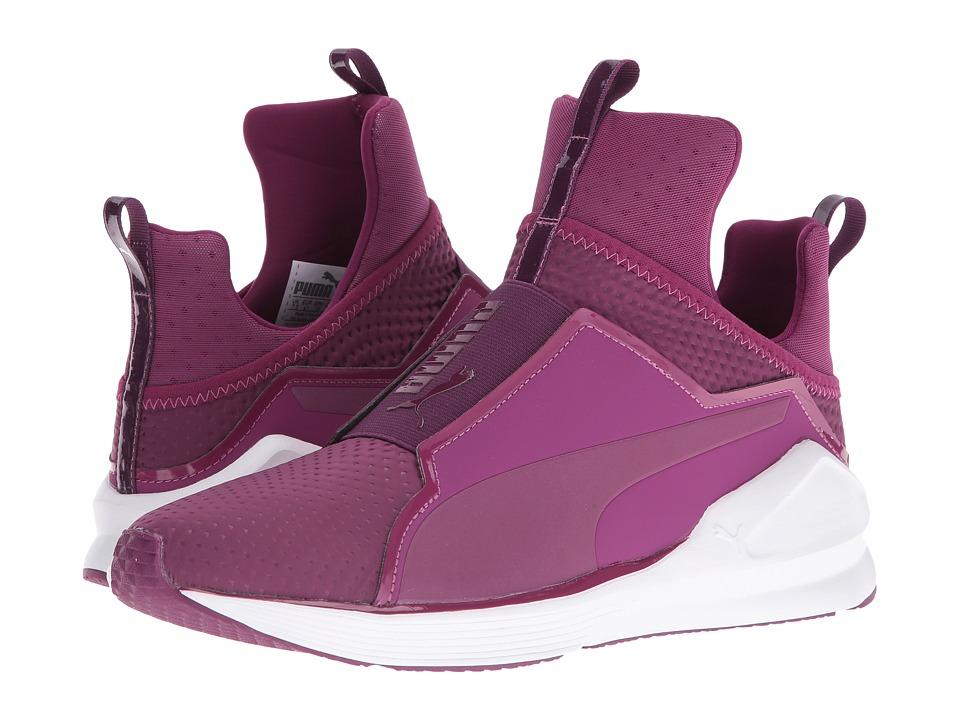 PUMA - Fierce Quilted (Magenta Purple/Puma White) Womens Shoes