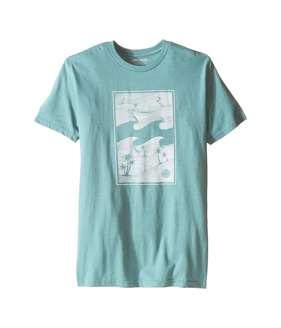 Billabong Kids - Wavetrip T-Shirt (Big Kids) (Smoke Jade) Boy