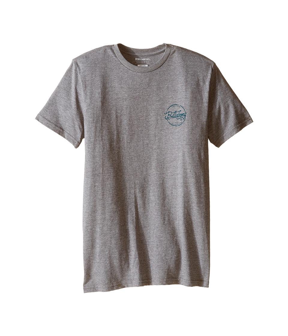 Billabong Kids - Sloop T-Shirt (Big Kids) (Dark Grey Heather) Boy