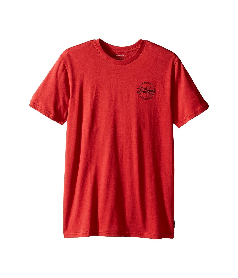 Billabong Kids - Sloop T-Shirt (Big Kids) (Red) Boy