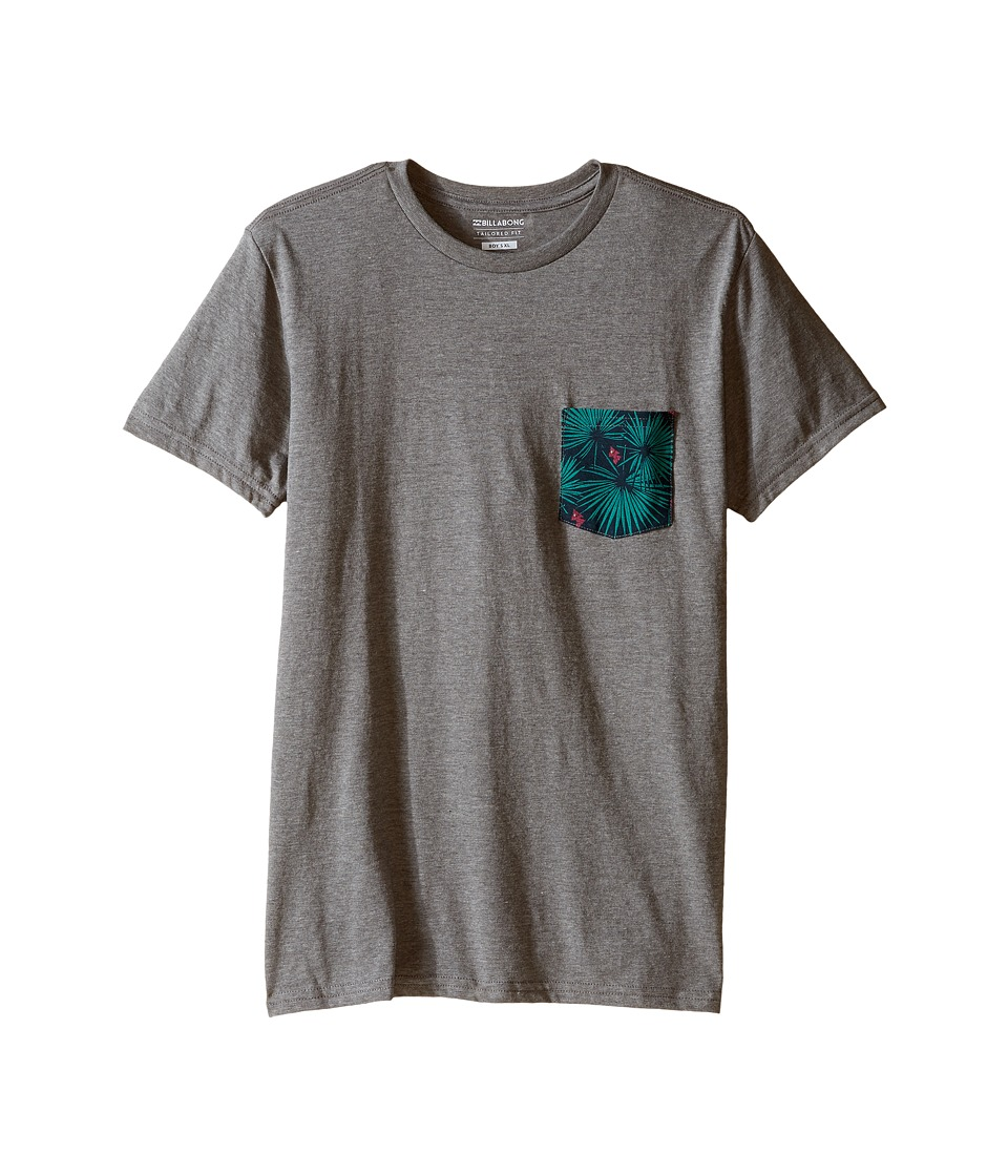 Billabong Kids - Pocket Vibes T-Shirt (Big Kids) (Dark Grey Heather) Boy