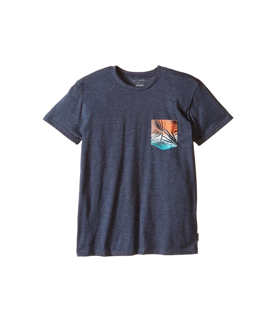 Billabong Kids - Pocket Vibes T-Shirt (Big Kids) (Indigo Heather) Boy