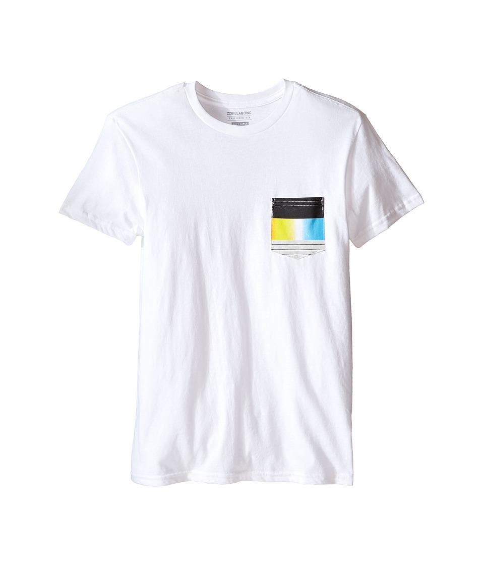 Billabong Kids - Pocket Vibes T-Shirt (Big Kids) (White) Boy