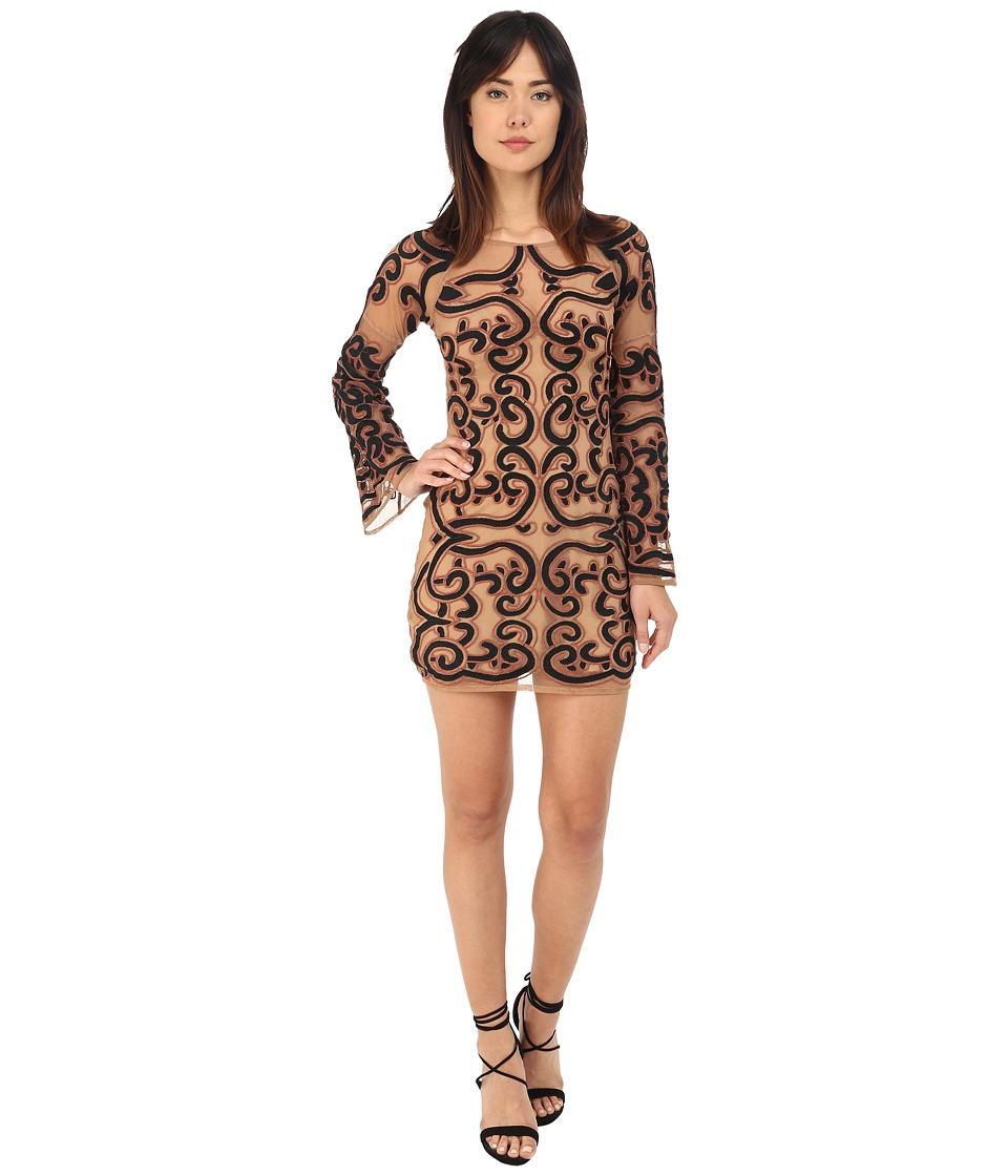 For Love and Lemons Antonina Mini Dress Black/Nude Womens Dress