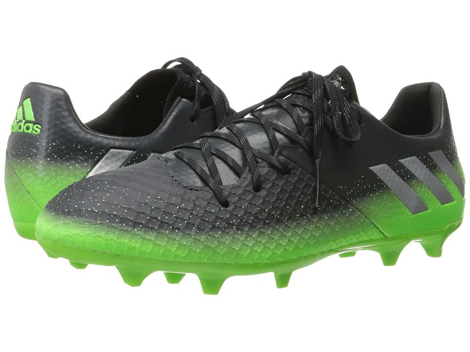 adidas - Messi 16.2 FG (Dark Grey/Silver Metallic/Solar Green) Men