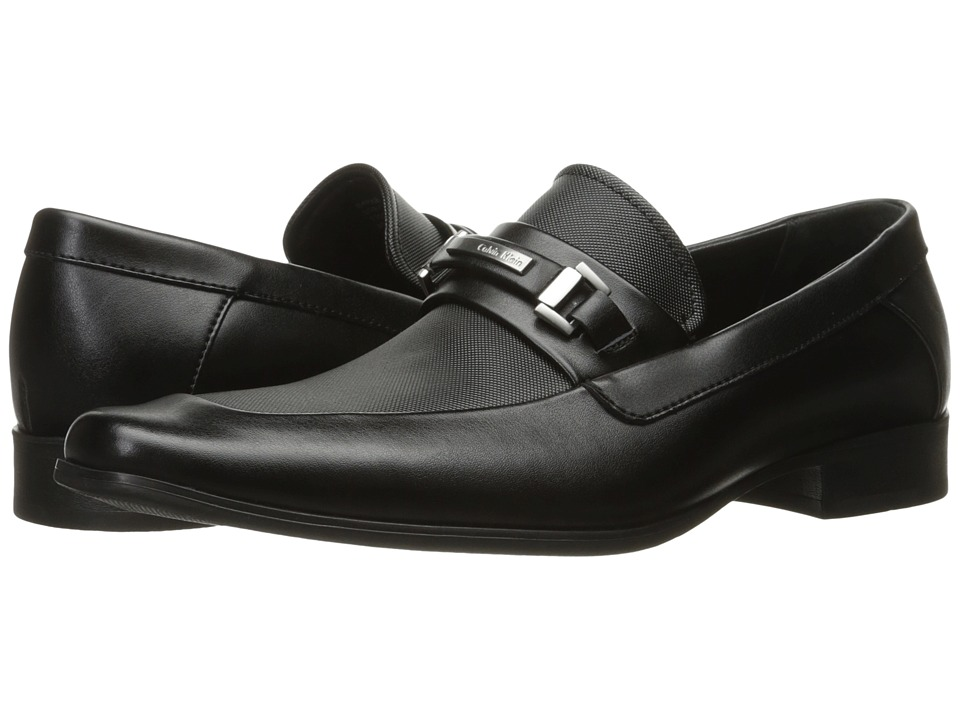 Calvin Klein - Barker (Black Emboss Soft Leather) Men