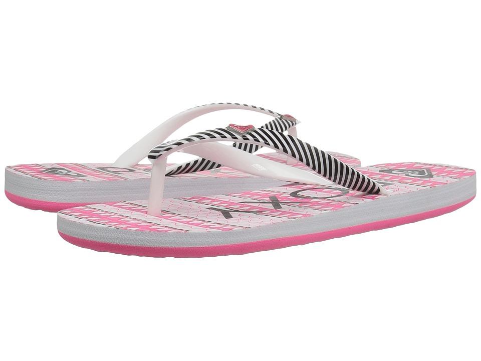 Roxy Kids Pebbles V (Little Kid/Big Kid) (Pink/Boysenberry Stripe) Girls Shoes