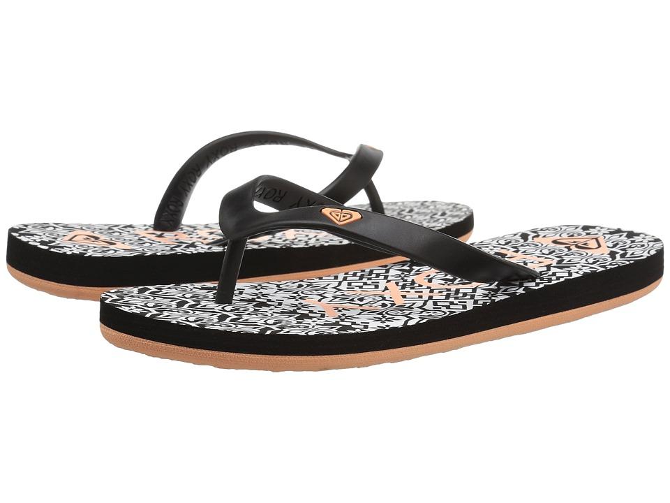 Roxy Kids Tahiti V (Little Kid/Big Kid) (Black Geo) Girls Shoes