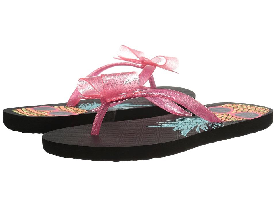 Roxy Kids Lulu II (Little Kid/Big Kid) (Black/Pink) Girls Shoes