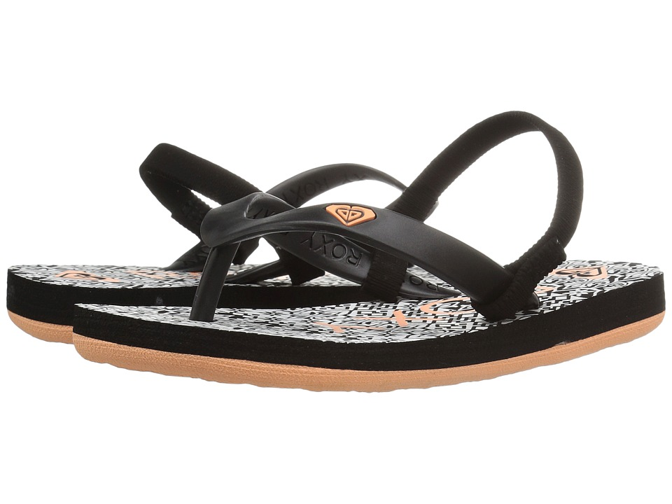 Roxy Kids Tahiti V (Toddler) (Black Geo) Girls Shoes