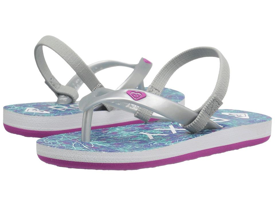 Roxy Kids Tahiti V (Toddler) (Blue/White) Girls Shoes
