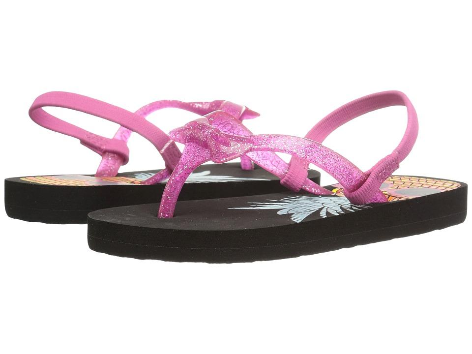Roxy Kids Fifi (Toddler) (Black/Pink) Girls Shoes