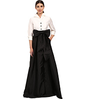 Adrianna Papell - Blouse High-Low Taffeta Gown