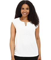 Calvin Klein Plus - Plue Size Textured Stripe Top