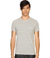 Todd Snyder - Striped Weathered Button Pocket Crew Tee