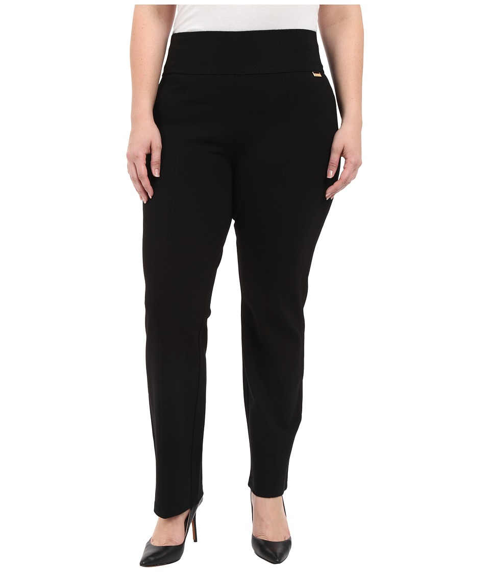 Calvin Klein Plus - Plus Size Wide Waist Straight Pants (Black) Womens Casual Pants