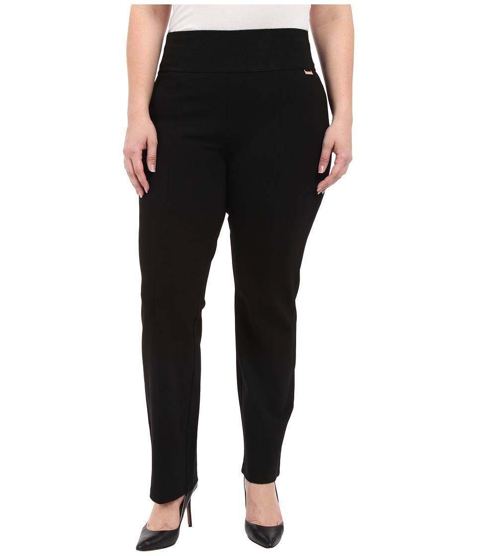 Calvin Klein Plus - Plus Size Wide Waist Straight Pants (...
