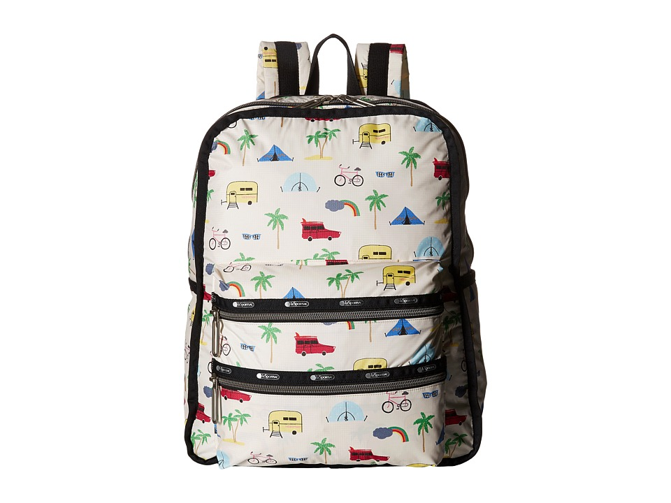 LeSportsac - Functional Backpack (Roadtrip Vaca Cream) Backpack Bags