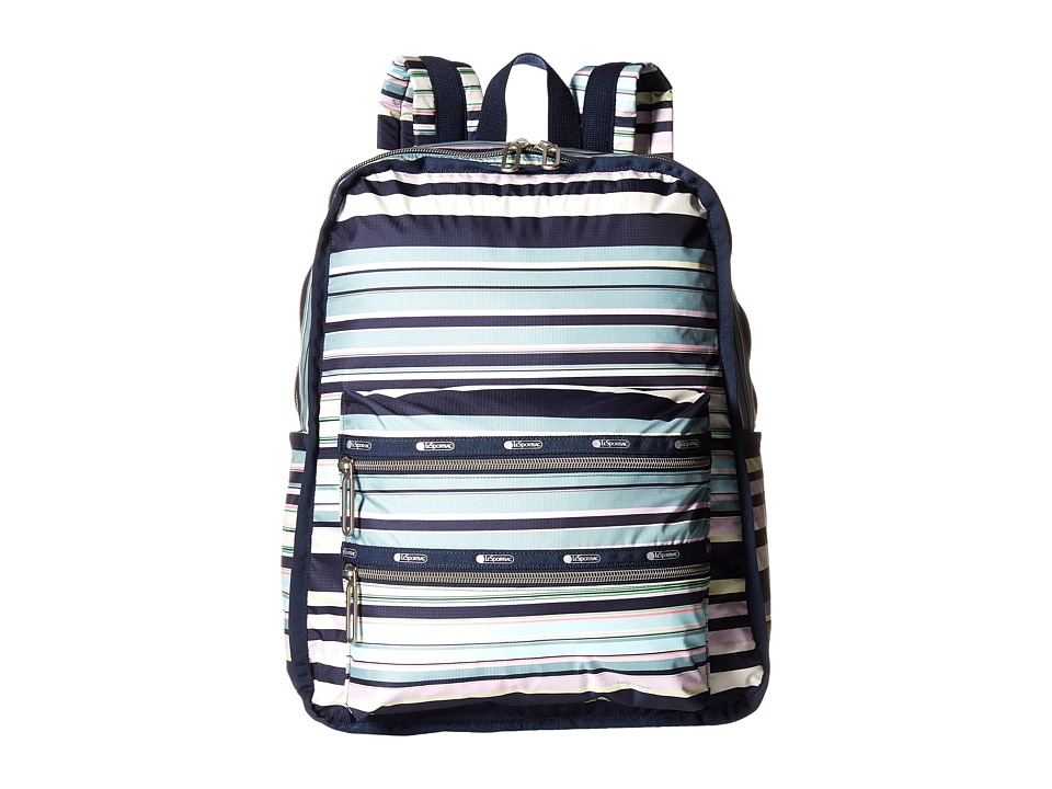 LeSportsac - Functional Backpack (Beach Stripe) Backpack Bags