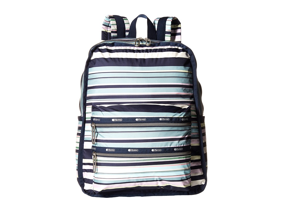 LeSportsac - 3-Zip Voyager (Beach Stripe) Handbags