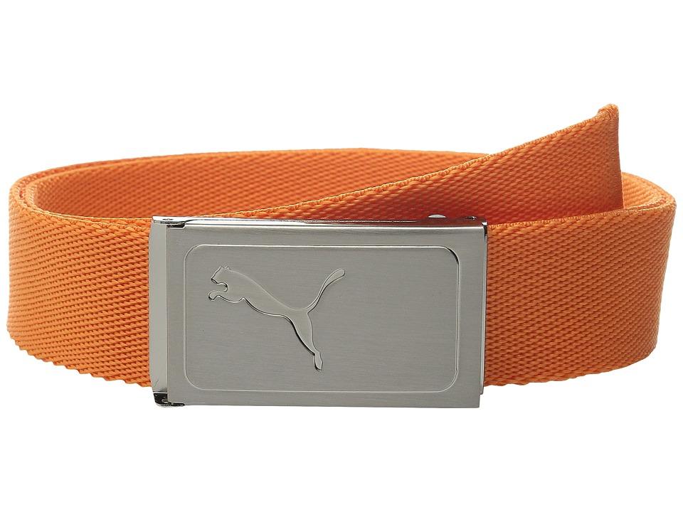 PUMA Golf Kids Works Web Belt Big Kids Vibrant Orange Boys Belts