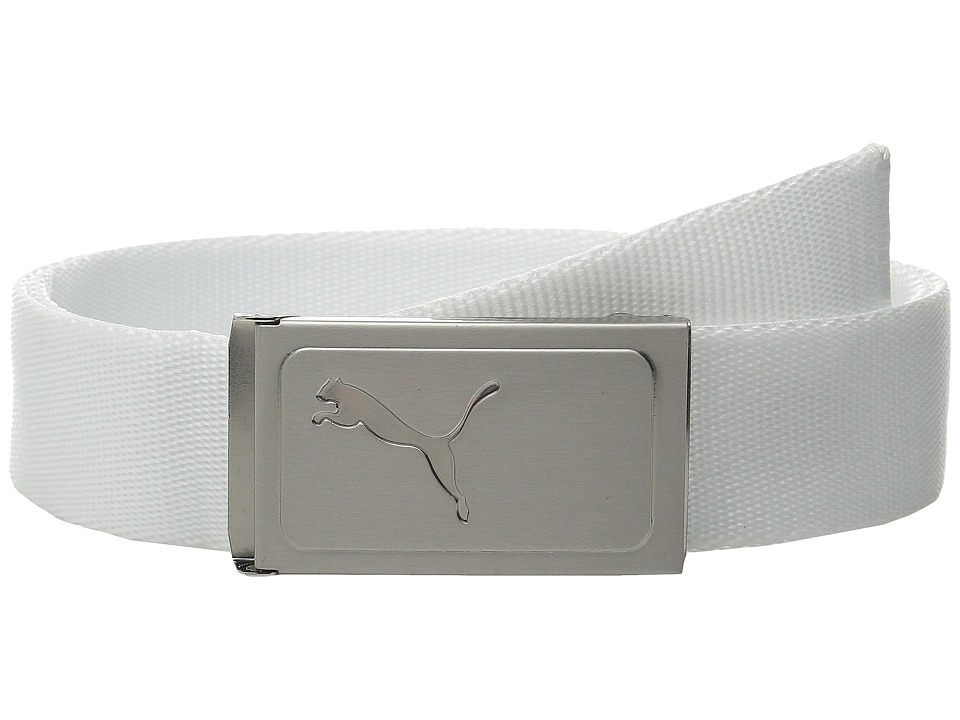 PUMA Golf Kids Works Web Belt Big Kids White Boys Belts