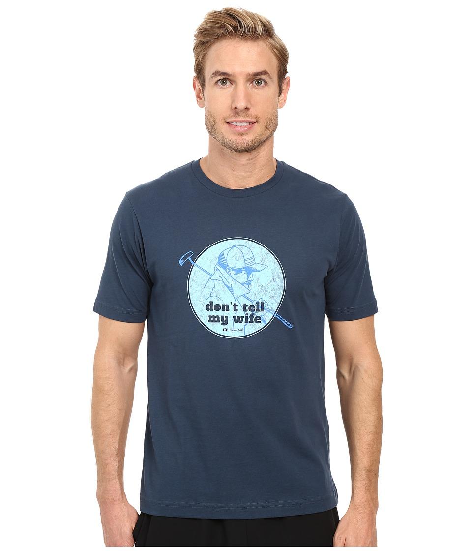 TravisMathew No Habla T-Shirt (Dark Blue) Men