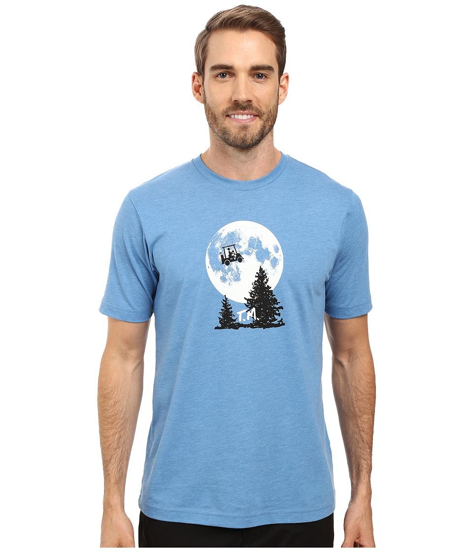 TravisMathew - Phone Home T-Shirt (Heather Blue) Men