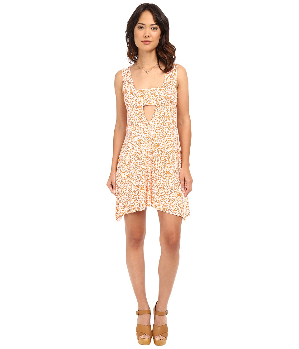 Clayton Shella Dress Tangerine Leopard Womens Dress
