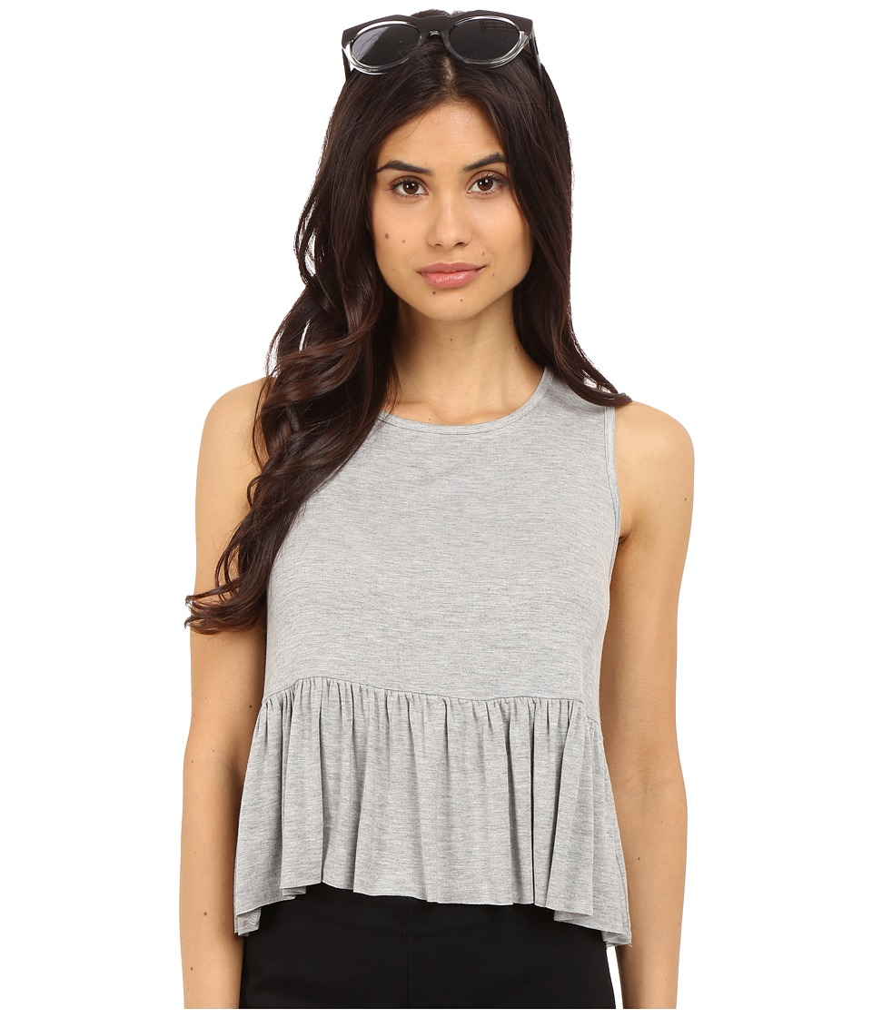 Clayton Riya Top Heather Grey Womens Sleeveless