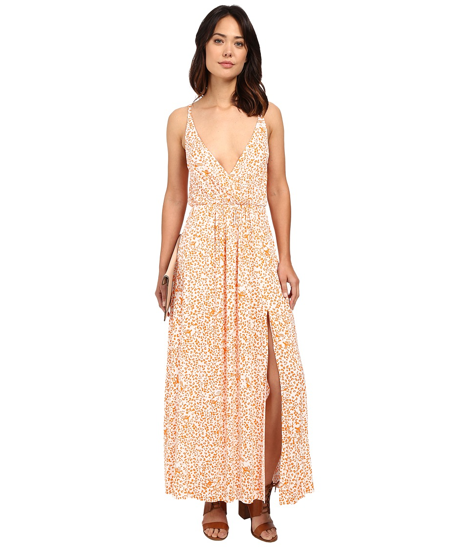 Clayton Aniya Dress Tangerine Leopard Womens Dress