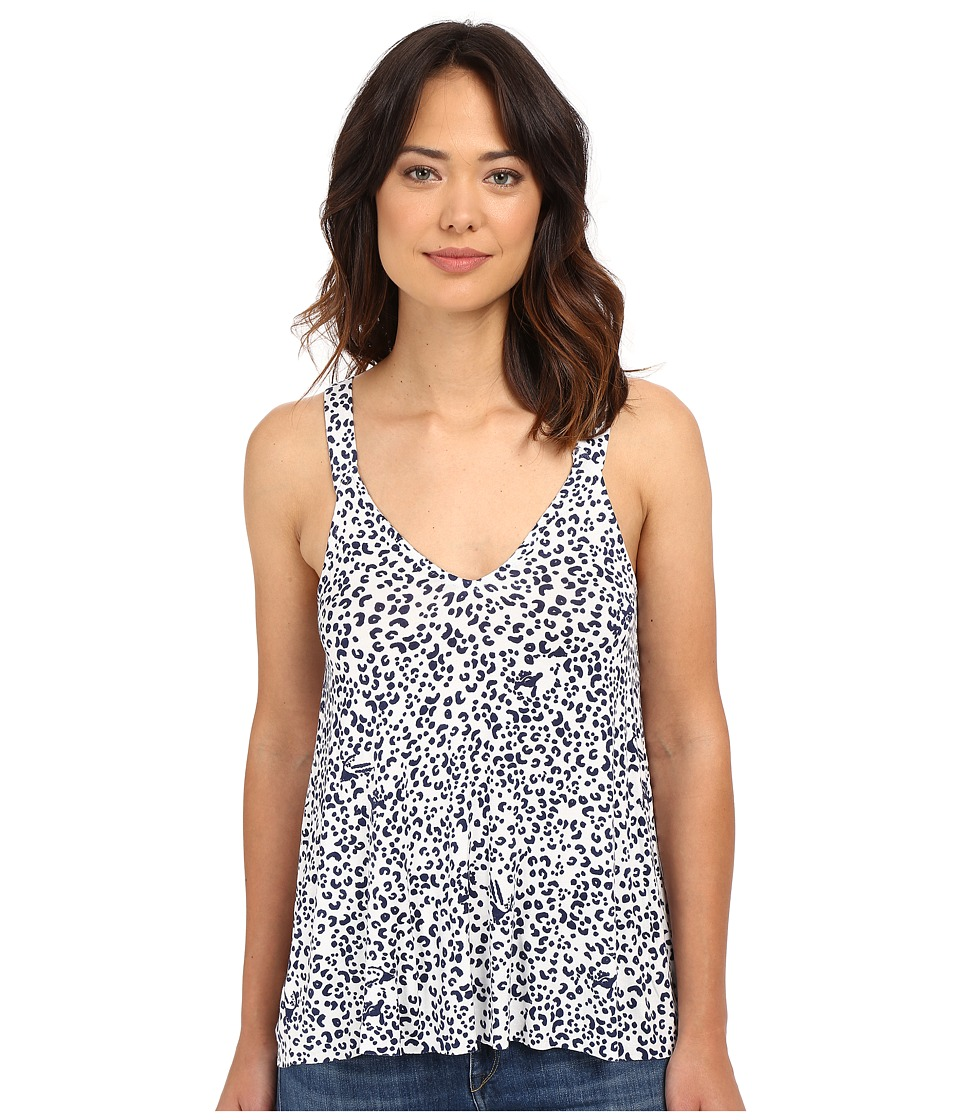 Clayton Sora Top Navy Leopard Womens Sleeveless