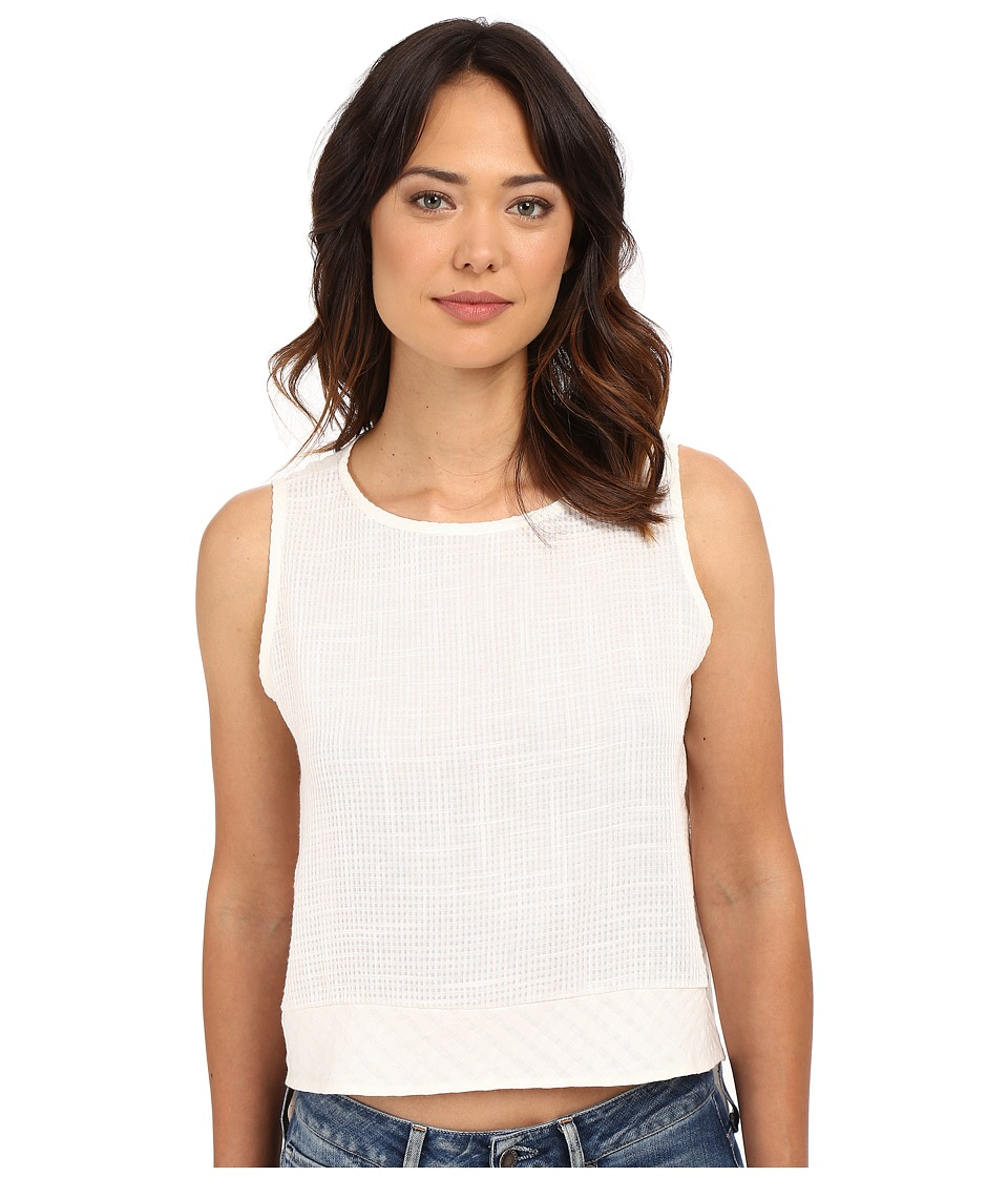 Clayton Linen Beacon Top Ivory Womens Sleeveless