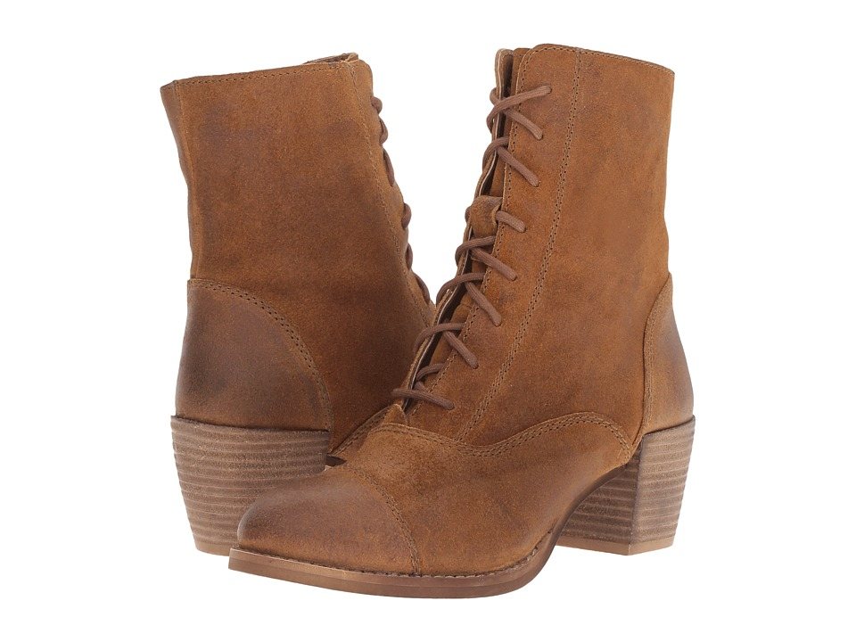 Vintage Style Boots Seychelles - Pack Tan Womens Lace-up Boots $160.00 AT vintagedancer.com