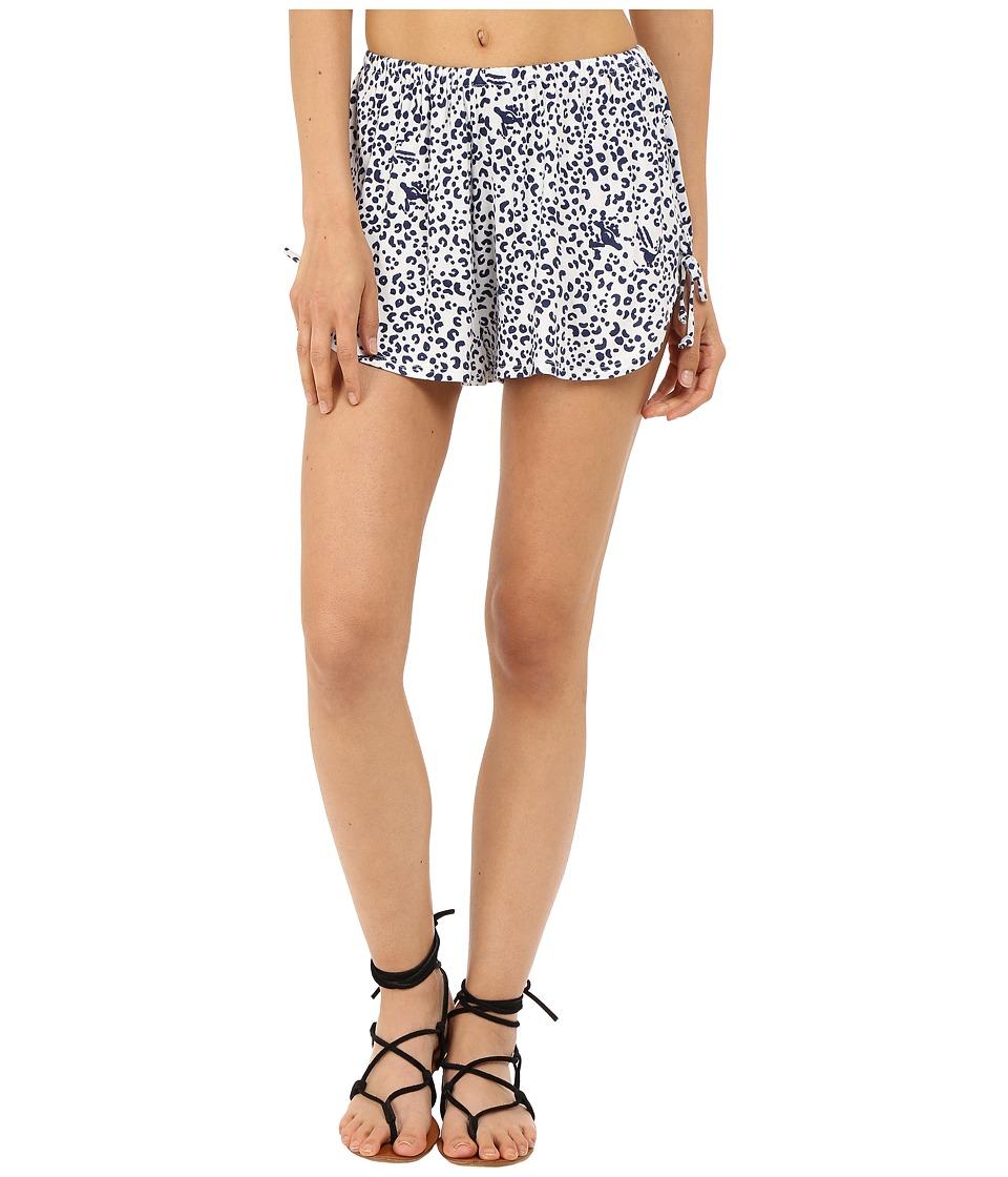Clayton Lola Shorts Navy Leopard Womens Shorts