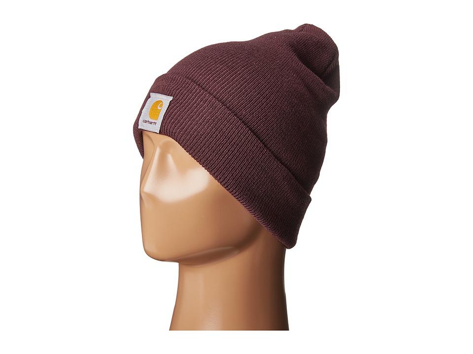 Carhartt - Acrylic Watch Hat (Deep Wine) Caps