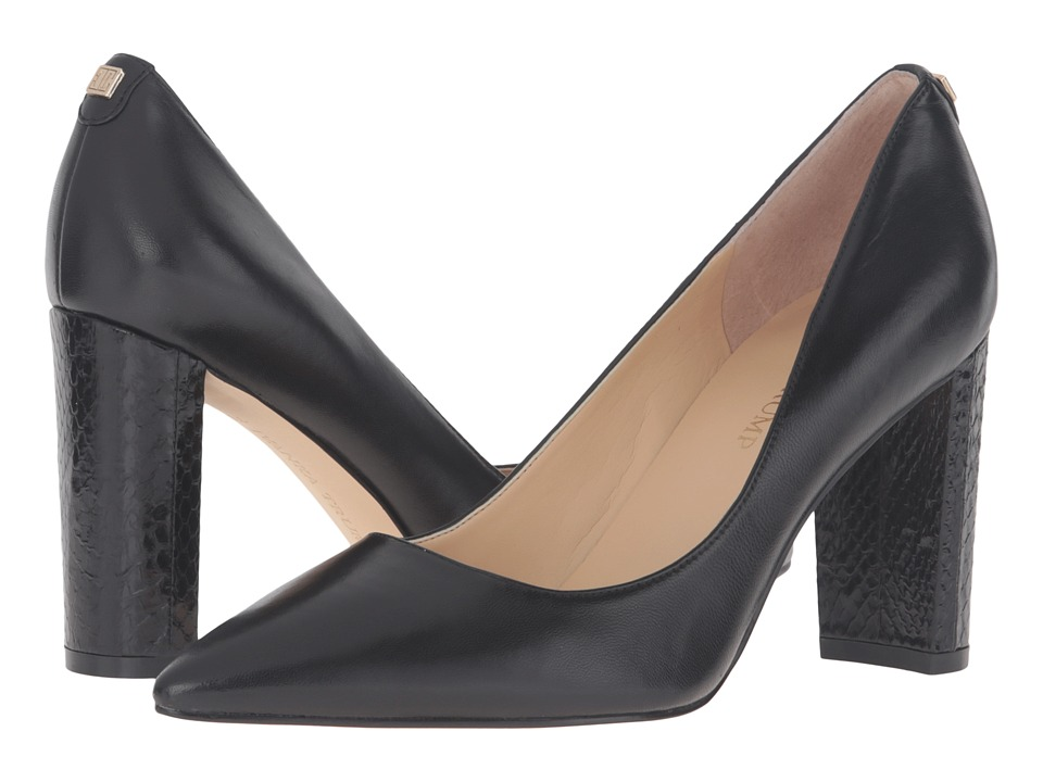 Ivanka Trump Katies (Black Leather) High Heels
