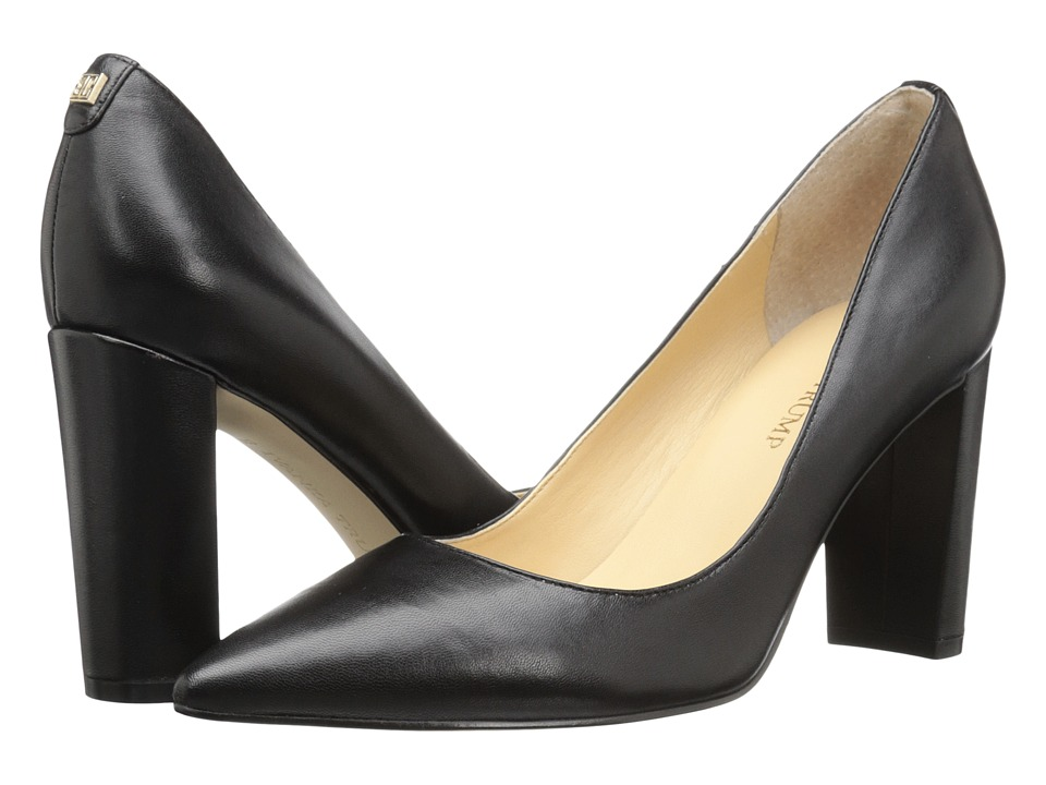 Ivanka Trump Katie (Black Leather) High Heels