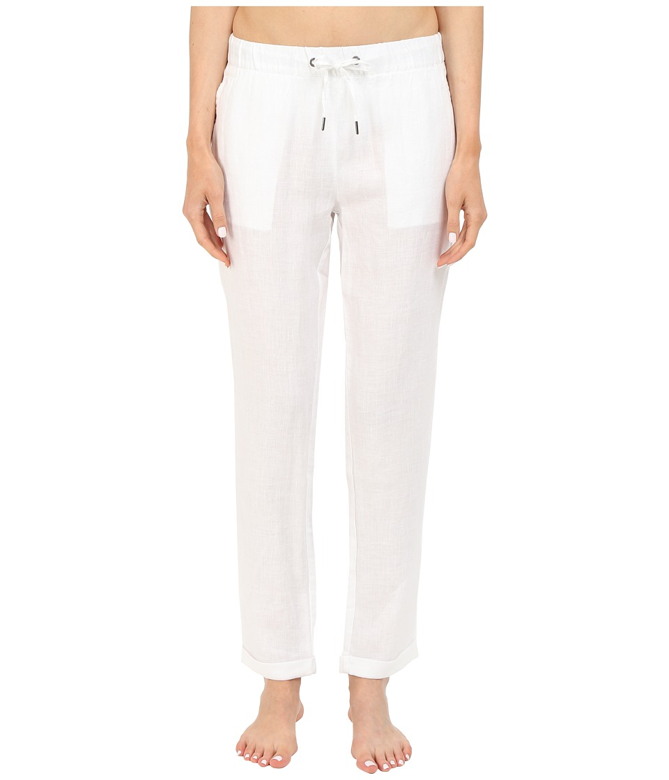 onia Ella Linen Pants White Womens Swimwear