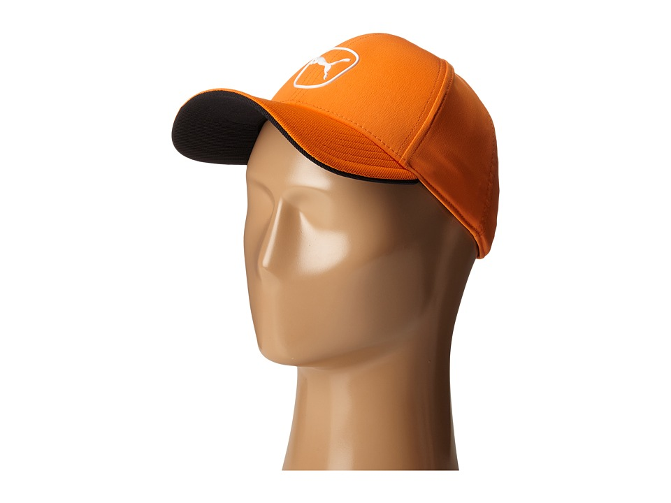PUMA Golf Kids Cat Patch 2.0 Adjustable Cap Big Kids Vibrant Orange/White Caps