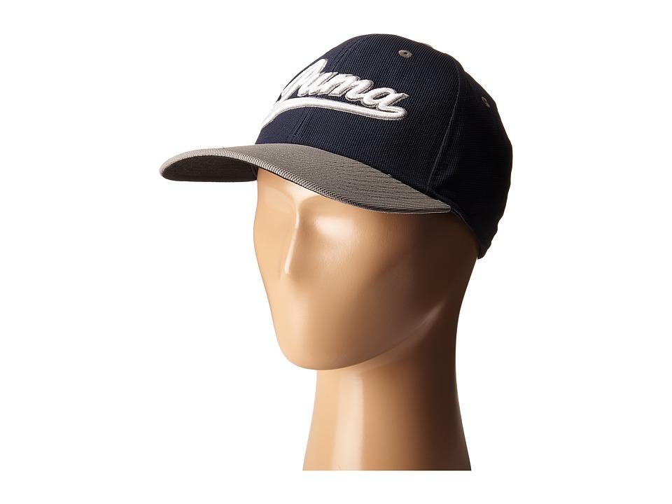 PUMA Golf Kids Script Cap Big Kids Peacoat/Folkstone Grey Caps