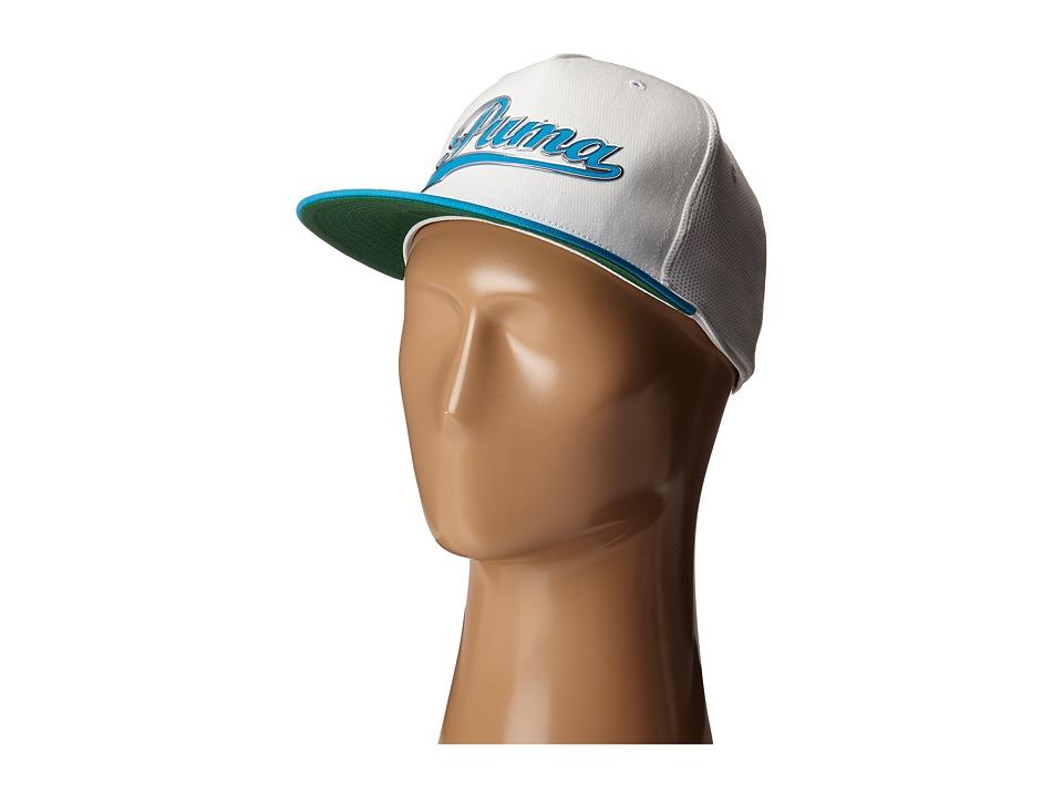 PUMA Golf Kids Script Snapback Cap Big Kids White/Atomic Blue Caps