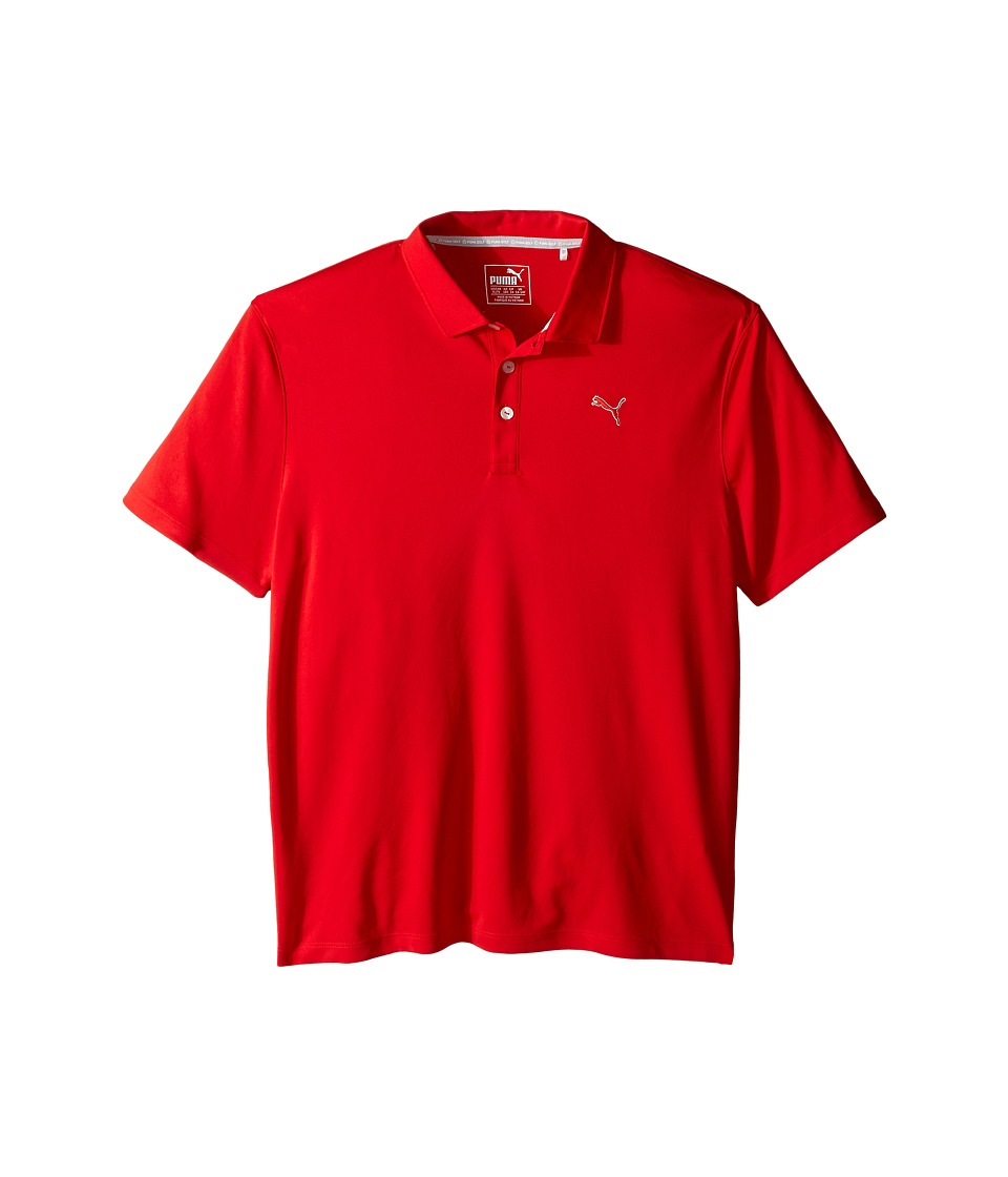 PUMA Golf Kids - Essential Pounce Polo JR (Big Kids) (High Risk Red) Boys Clothing