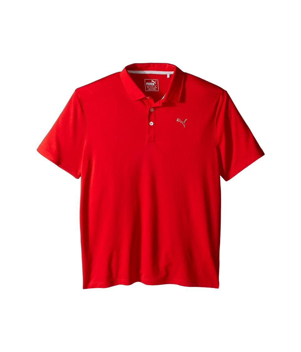 PUMA Golf Kids Essential Pounce Polo JR Big Kids High Risk Red Boys Clothing