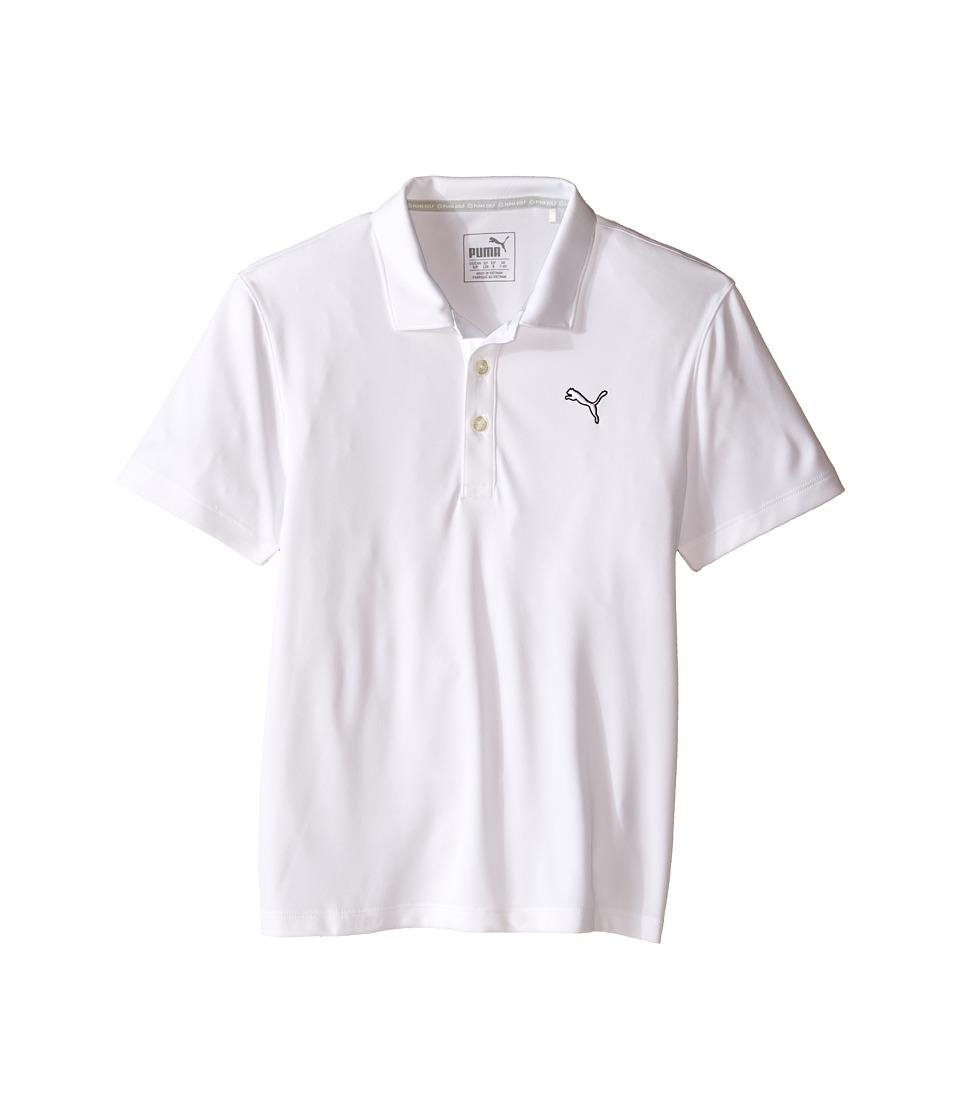 PUMA Golf Kids Essential Pounce Polo JR Big Kids Bright White Boys Clothing