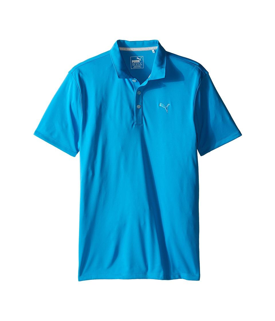 PUMA Golf Kids Essential Pounce Polo JR Big Kids Atomic Blue Boys Clothing