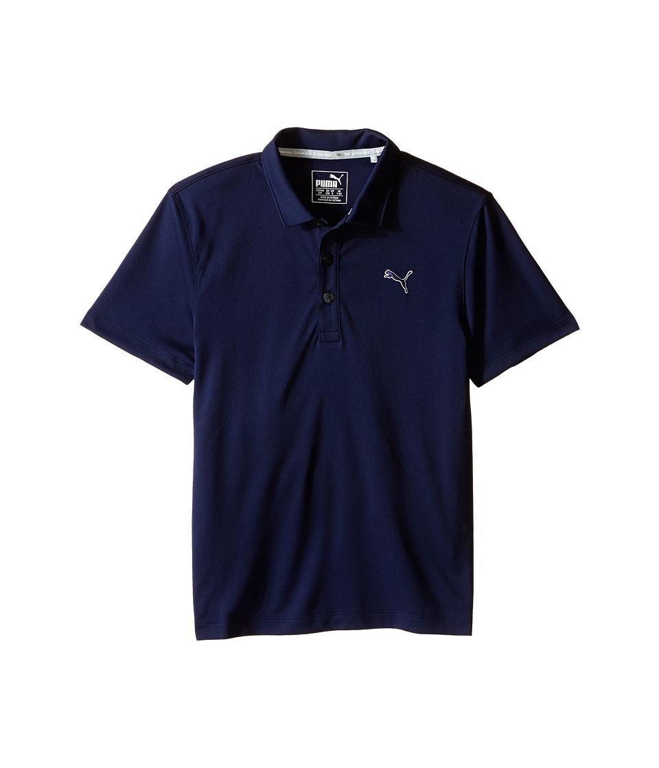 PUMA Golf Kids Essential Pounce Polo JR Big Kids Peacoat Boys Clothing