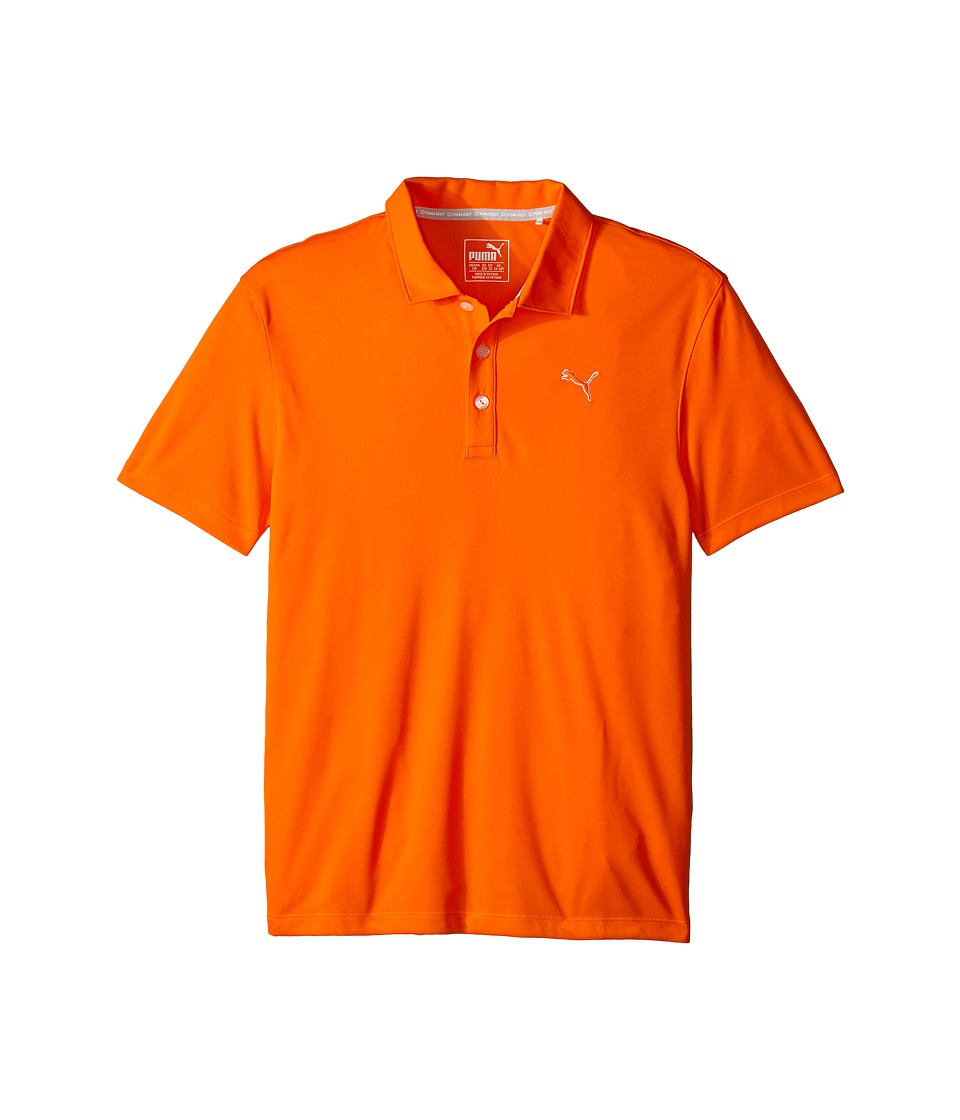 PUMA Golf Kids Essential Pounce Polo JR Big Kids Vibrant Orange Boys Clothing