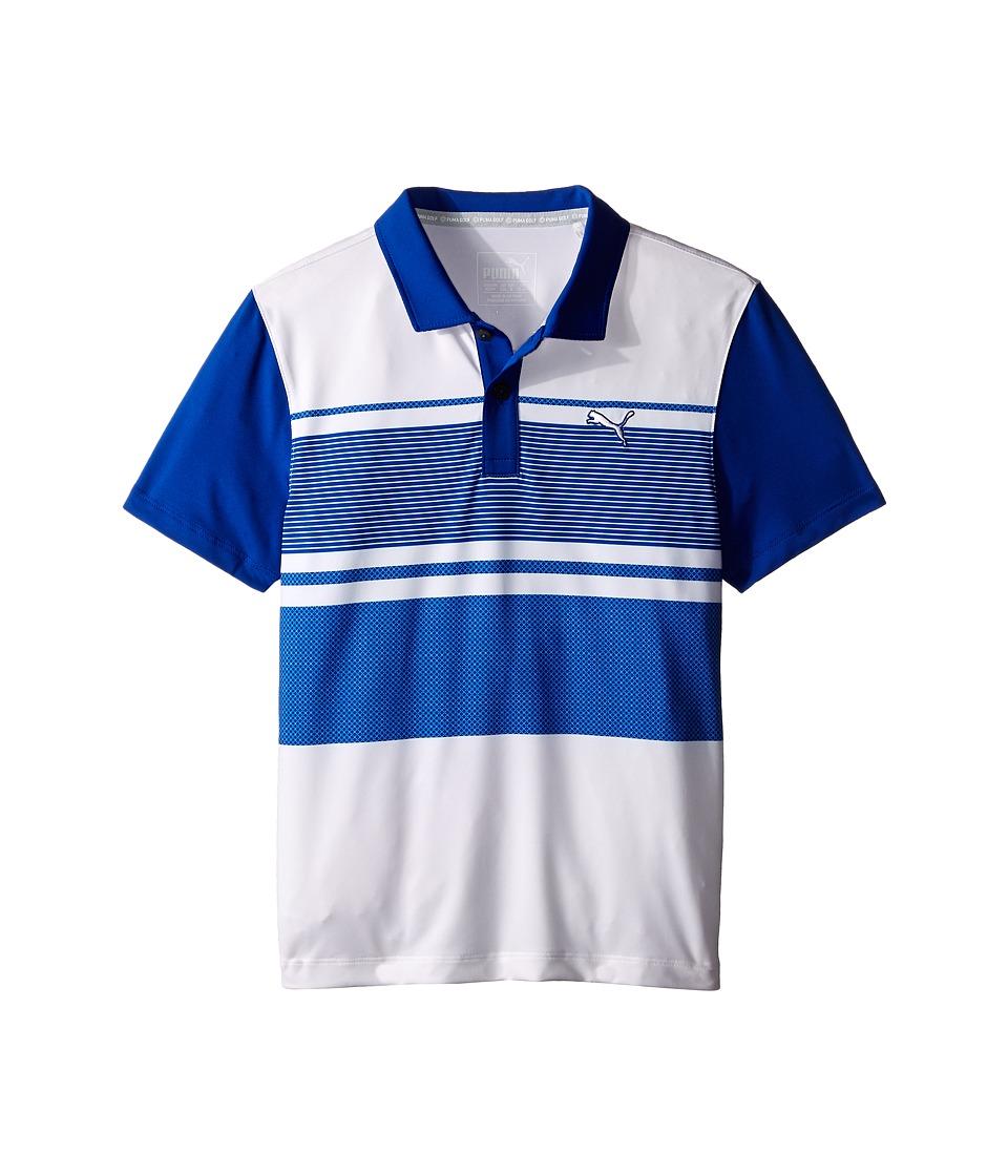 PUMA Golf Kids Pattern Block Polo JR Big Kids Surf The Web Boys Clothing