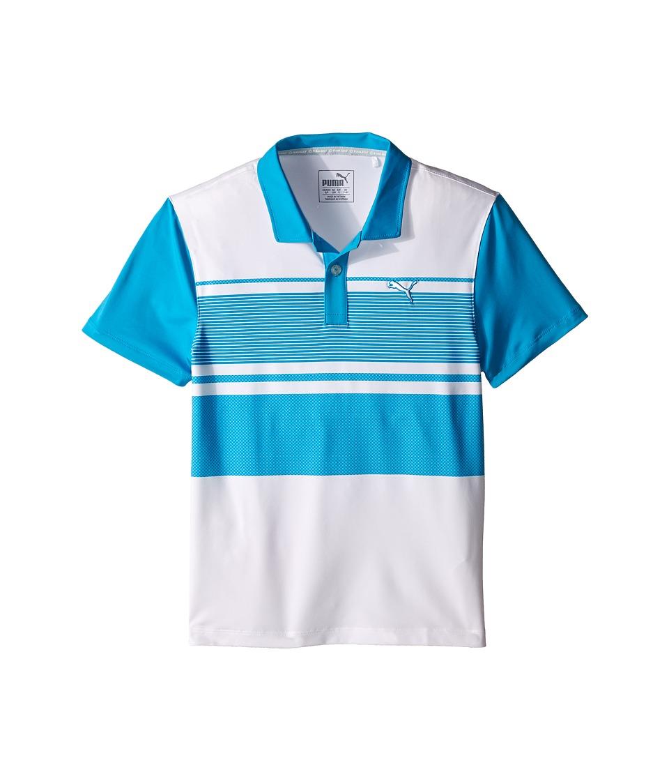 PUMA Golf Kids Pattern Block Polo JR Big Kids Atomic Blue Boys Clothing